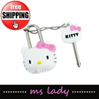 hello kitty cute lock & key hot selling free shipping HK airmail