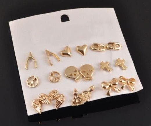 Drop Earrings New Punk gothic Bow wings skull skeleton shape of the Buddha heart earrings for women wholesale charms A E0329(China (Mainland))