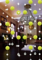 10meters/lot(The min order is 10 meters), AAA+,glass Crystal wheel bead Curtain!Divider/glass Beaded Strands,xl-06