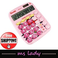 calculator hello kitty gift for child free shipping HK airmail