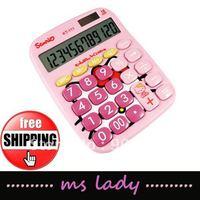 hot free shipping calculator hello kitty style 3pcs/lot HK airmail