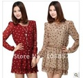2012 the new spring clothing women&#39;s wave spins snow spins dress at dot skirt