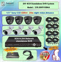 New Arrival Free Shipping 1Year Warranty 20m Night Vision Indoor/Outdoor Use Security CCTV Camera Kit SYK-BN9108M4
