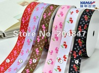 "1"" Strawberry Ribbon     Craft Ribbon    Customized Printed Grosgrain Ribbon 100yards/lot  negotiable price"