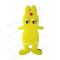 Cartoon animals cable organizer/ cable winder/ wire organizer/ earphone MP3 accessory-yellow dog10pcs/lot free shipping