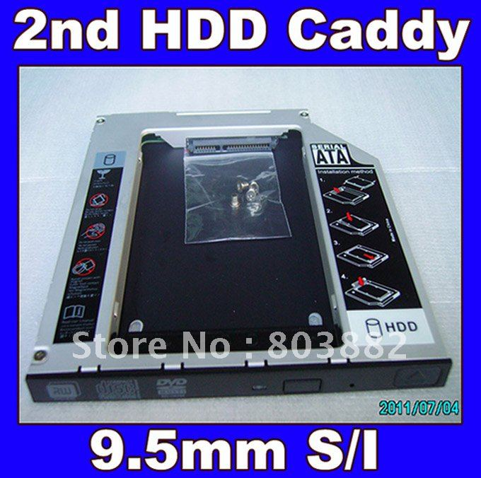 NEW 2nd HARD DISK DRIVE HDD Caddy Bay for Gateway 12&quot; TB120 replace GSA-U10N(China (Mainland))