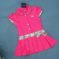Платье для девочек 10pcs/lot Baby Girl Summer Clothing One-piece Candy Colored Dress AZ6970
