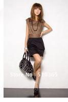 Women summer dress 2014 new fashion chiffon  spring summer workwear casual patchwork Mini Plus big Size XXXL Women Dresses  585