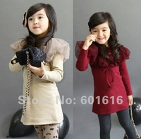 Free Shipping! 100%Cotton Children Girls dresses 1lot=5pcs for 100,110,120,130,140