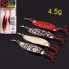free shipping 4.5g  Minnow fishing lure 2piece/box Fishing LURE Trolling Laser Spoon 5box/lot