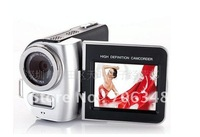 "3pcs/lot   DV-T8 Digital Camcorder 4X Zoom 2.4""LCD with 270 degree rotation HDTV 720P Camera+Li-battery"