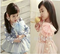 Free Shipping! 100%Cotton Girls dresses size for 100,110,120,130,140
