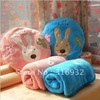 Hot sale new style plush rabbit cushion and air-condition blanket   1 set