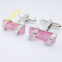 2012 New Fashion Cufflinks,fashion Ladies cufflinks,white gold plated diamonds cufflinks,factory price,Free shipping,EKC5000428