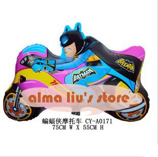 Free Shipping(DHL): Aluminum Foil Balloon,Helium Balloons,Party Balloons,mylar balloon,balloons,Batman motorcycle(China (Mainland))