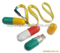 Best selling Plastic capsule Pillow Usb  flash drive 4GB 8GB