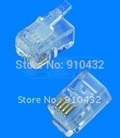 1000PCS RJ11/RJ12/RJ45 telephone plug CAT5 Modular Plug Network Connector #4p4c free shipping
