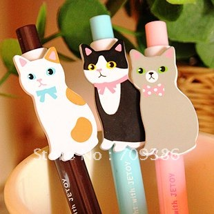 Wholesale,New Cute Lovely Cartoon Cat Ballpoint Pen/Korean Style Ball Pen