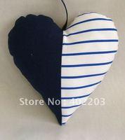 Patchwork heart hanger-decoration-stuff-textile decoration-fabic heart hanger-2designs and 2size per set