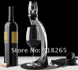 Free Shipping+Wholesale+Full Gift Set Magic Decanter,Red Wine Aerator Essential Set With Bag Hopper And Filter(China (Mainland))