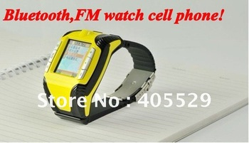 Bluetooth FM Stylus 1.3 inch touch-screen watch cell phone with 12 languages Free shipping!!!