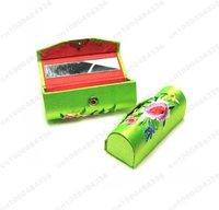 Free shipping  Lot of 36 pcs CHINA HANDMADE SILK LIPSTICK BOX CASES