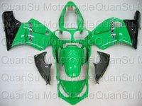 Freeshipping KAWASAKI 00-01 ZX-12R ZX12R Bodywork Fairing ABS green black