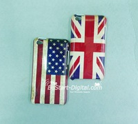 Free Shipping, Old style, UK USA Flag, Back Cover case for ipod Touch4, Hard case for ipod Touch4, hot sale item [10pcs]