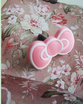 Free shipping   Korea cocoroni bowknot iphone4g  iPAD Anti Dust Plug Stopper Set / headphones dust cover / bowknot earphone jack