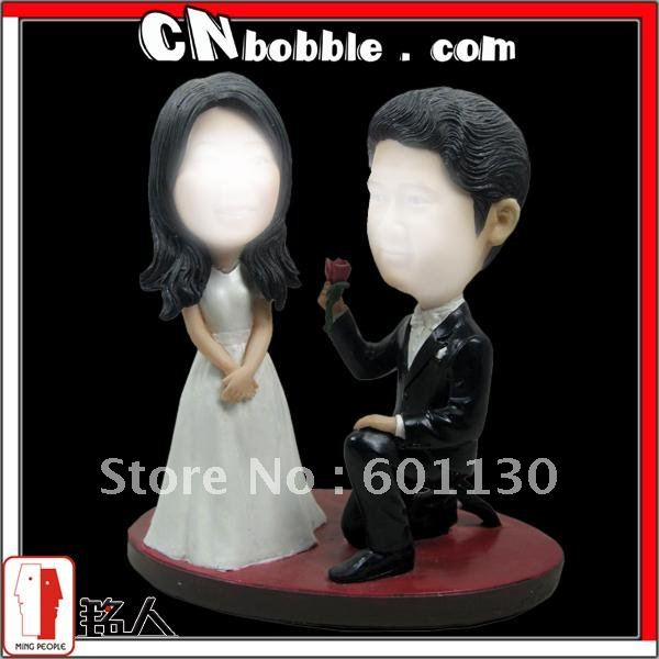 BBQ-933,lovely couple bobble head(China (Mainland))