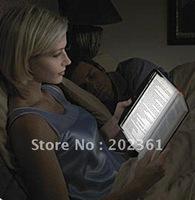 free shipping 500pcs/lots LED Night Book Reading Light Panel Lightwedge Paperback