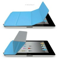 20pcs/Lot Ultra Slim Micro Fiber Leather Case PU Smart Cover Magnetic Case For Apple iPad 2 Multi color for choose