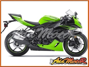 Aftermarket ABS Motorcycle Fairings Body Kit For ZX-6R 09-12 Green K6926