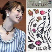 Free shipping wholesales fashion colorful jewelry temporary tattoos for party