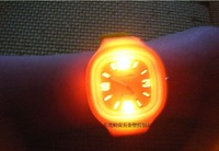 2012 Shine ODM Jelly Watch Fashional LED shine watches ss.com  30pcs