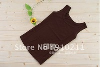 2012 Fashionable ElyseDress camis tank tops women clothes,shirt,women's tank tops U Neck 100% Cotton Tanks Coffee