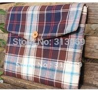 handmade cotton fibric bag for ipad size about 27cm*21cm*2cm 50pcs/lot free shipping