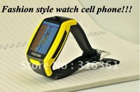 """1.8""""TFT inch touch-screen Fashion style watch cell phone with FM Stylus and Muti-languages Free shipping!!!"""