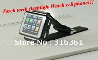 Torch watch cell phone 1.8 inch TFT touch-screen compass Stylus Muti-languages free shipping!!!