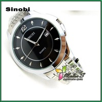 Mulan'S Sinobi S9310, New arrival High quality Steel Luxurious women's watch Black/White men's watch,FREE SHIPPING