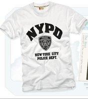 FREE SHIPPING 2014 New Arrival NYPD Men's Fashion  Korean 100% Cotton T shirt,Stylish clothing,Man's Tee shirt,your logo service