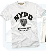 FREE SHIPPING 2014 New Arrival NYPD Men's Fashion  Korean 100% Cotton T shirt,Stylish clothing,Man's Tee shirt,your logo service