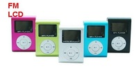 20pcs/lot Wholesale  New LCD Mini Metal Clip MP3 Player with screen For 1G-8G TF Card + 5 Colors + Gift Guaranteed100%