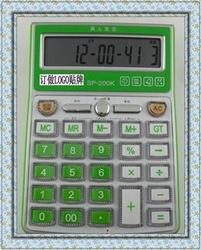 Wholesale&Retail /Desktop 12 Digits Electronic Calculator /Crystal of Clarity Key /Top Quality(China (Mainland))