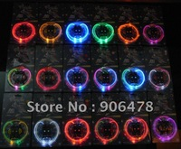 Free shipping 100Pairs/lot Hot sale LED LIGHT UP SHOELACES LED FLASHING DISCO FLASH LITE GLOW STICK NEON