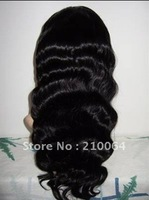 """hot sale AAA quality 18"""" stock body wave 100% virgin indian remy hair full wig free shipping"""