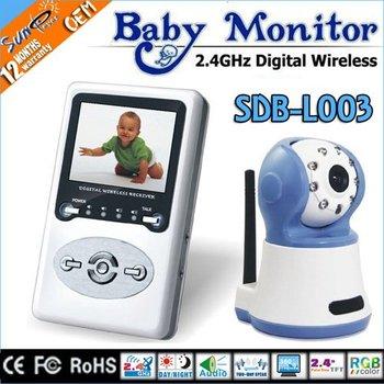 SunEyes Wireless Digital Baby Monitor with IR ,Zoom, Two Way Speak Free Shipping SDB-L003