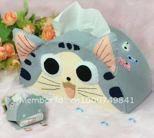 Diou is not weaving handmade cloth DIY tissue paper candy candy cat paper boxes material package ZJ024