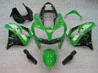 Free Shipping Motorcycle Bodywork Fairing Kawasaki ZX9R 2000-2001  113 green