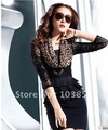 2012 spring clothing brand new women&#39;s fashion dress hanging neck bud silk leopard grain brought long-sleeved dress